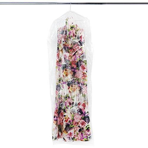 20 transparente Bekleidungsschutzhüllen aus Polyethylen – Länge ca. 165 cm – Ideale Länge für mittellange Kleider, Hosen, Hemden, Röcke etc. - perforiert zum einfachen Abreißen (Mittellange Hose)
