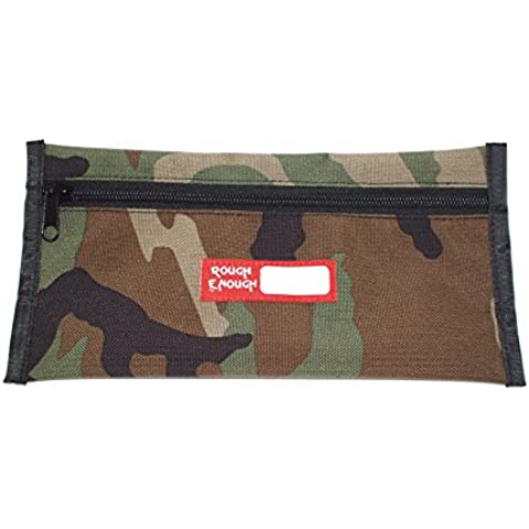 Rough Enough semplice astuccio portapenne 5 x 10 in (Camo) by Rough Enough