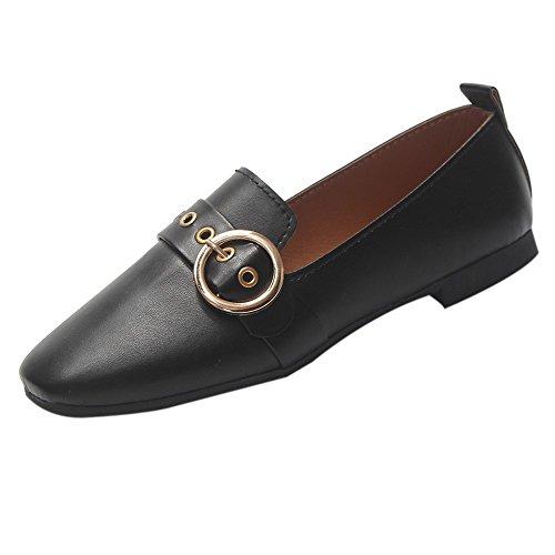 VECDY Damen Schuhe, Flache Schuhe Turnschuhe Mode Frauen British Single Schuhe Flacher Mund Kleine Schuhe Flache Schuhe faul Schuhe Mode Stiefel (Ralph Lauren Schuhe Kleine Kinder)