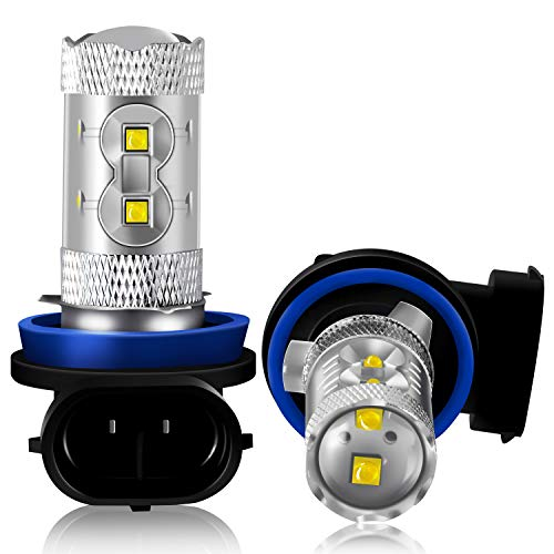 DZG - Lampadine fari universali a LED H11 / H8 / H9 - Alta potenza Cree Super Bright Xenon bianco 50W 600LM 6000K Cree, 2 pezzi