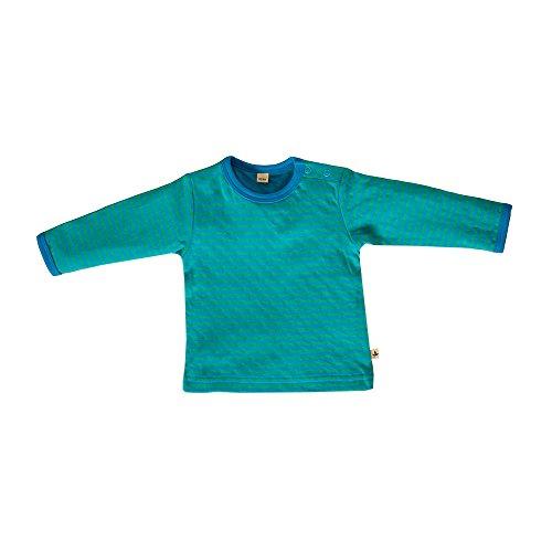 Leela bébé en coton à manches longues pour enfant en coton biologique bleu à nordisch irlandais-vert rayé)