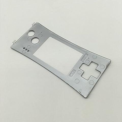 Haodasi Silver Repair Front Shell Faceplate Case Cover Cáscara Placa Frontal Caso for Nintendo Gameboy Micro GBM