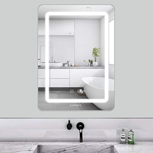 LUVODI 50 x 70cm Espejo Baño Pared con Luz LED Función Antivaho con Interruptor Táctil 3 Modos Ajustables...