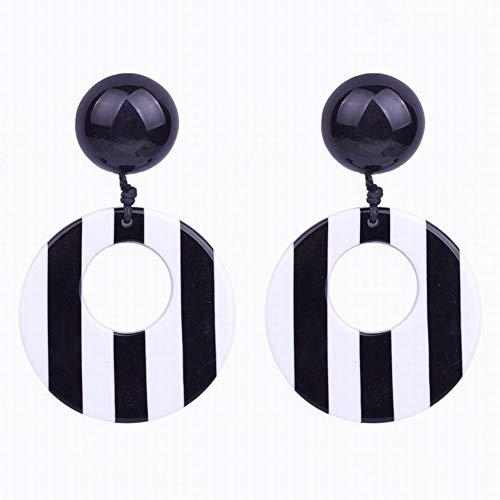 Cjmdeh orecchini orecchini unici design creativo in bianco e nero zebra resina strisce orecchini a pendente per il brasile donne moda e gioielli