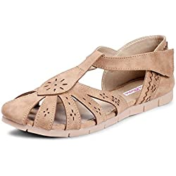 Meriggiare Women Beige Synthetic Flats 41 Eu