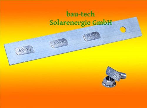 1 Stück Profil Verbinder ALU inkl. Hammerkopfschrauben für Solar Photovoltaik PV Montage von bau-tech Solarenergie GmbH