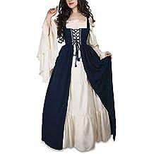 Disfraz medieval mujer azul