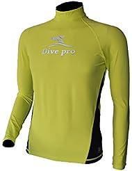 divepro Rash Guard Lycra-UV manches longues T-shirt Homme