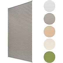 Sol Royal Plisado SolDecor P25 - 75x150 cm - Gris - Sin necesidad de taladrar - Estor persiana - Ventanas o puertas