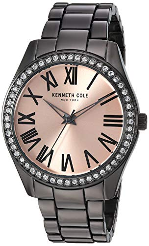 Kenneth Cole Women's Black Steel Bracelet & Case Quartz Watch KC50664005