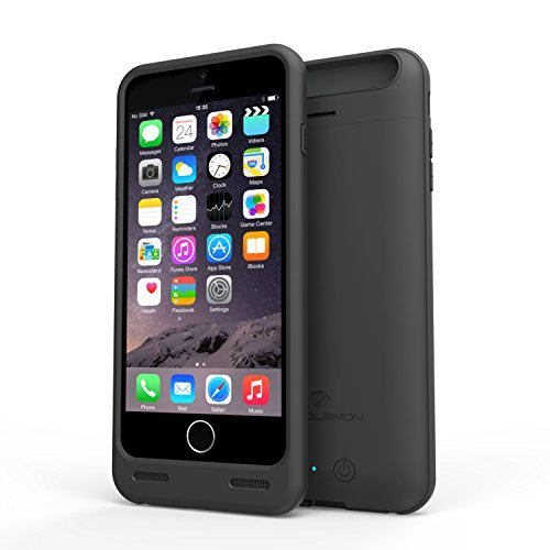 ZEROLEMON iPhone 6/6s Plus Battery Case, 4000mAh Slim Juicer Double Layer Extended Battery Charging Case for iPhone 6/6s Plus 5.5 inch -Black
