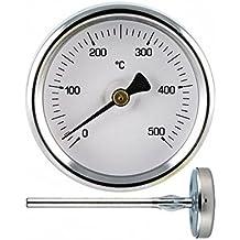 1 Termómetro para medir hasta 500º grados de temperatura, sonda de 30 cm, para