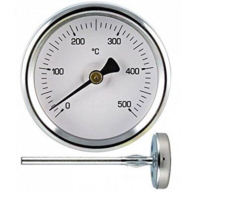 1Termómetro para medir hasta 500º grados de temperatura, sonda de 30 cm,para...