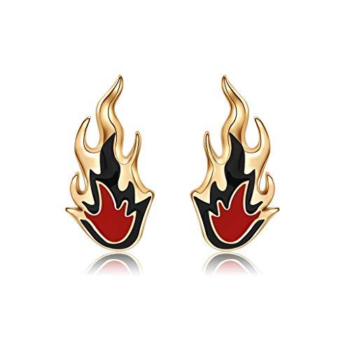 Haptian Ohrclip, Frauen Ohrringe Mode Kreative Feuer Flamme Ohrstulpe Charms Legierung Hochzeit Schmuck (Flamme Ohrringe)