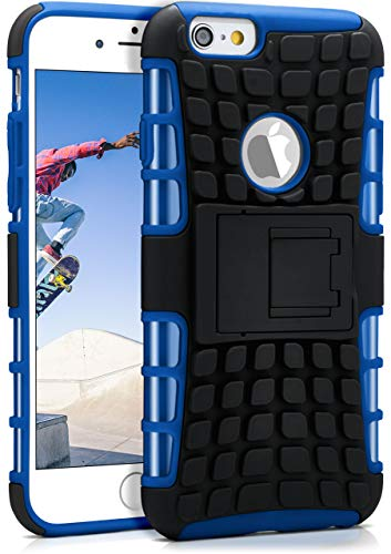 ck-Cover aus Silikon + Kunststoff [Double-Layer] passend für iPhone 6S / iPhone 6 | Extrem widerstandsfähiger 360° Schutz, Blau ()