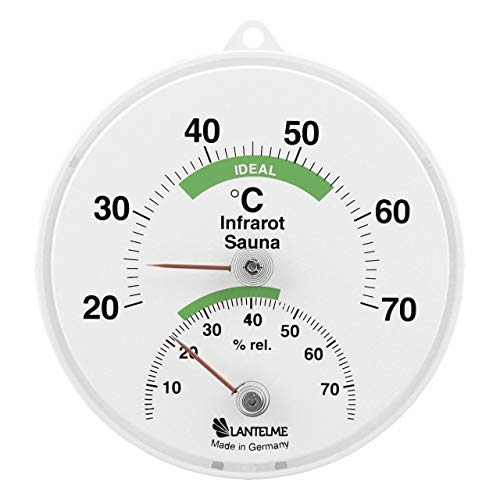 Sauna Kombi Thermometer für Infrarotkabinen