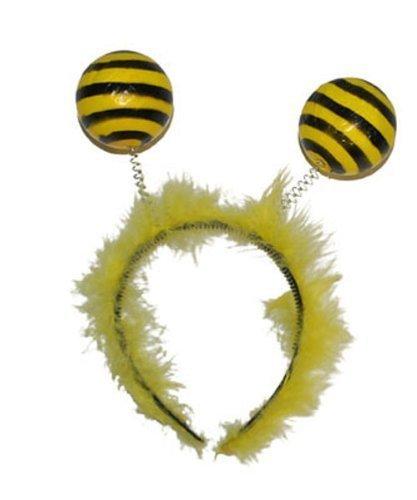 Pierro´s Kostüm Haarreif Biene Silvetta Zubehör Haarreif Biene Damen Accessoire für Karneval, Fasching, Halloween, Motto Party / Verkleidung (Für Erwachsene Kostüme Bienen)
