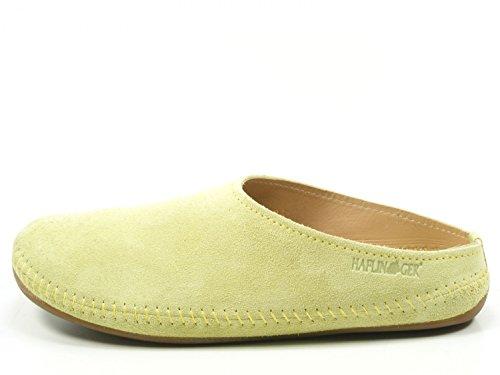 Haflinger 488023-0 Everest Softino Damen Hausschuhe Pantoffeln Pink Lila Grün, Schuhgröße:38;Farbe:Grün (Haflinger Leder-schuhe)