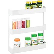 mDesign Organizador de medicamentos – Estantería de pared con 3 estantes – Baldas para baño de