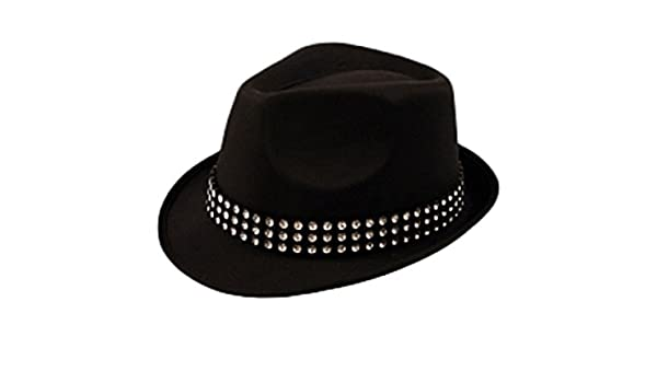 09cccf5a MA ONLINE Mens Trilby Gangster Hat With Gem Stones Womens Dance Show Fancy  Dress Accessory One Size: Amazon.co.uk: Clothing