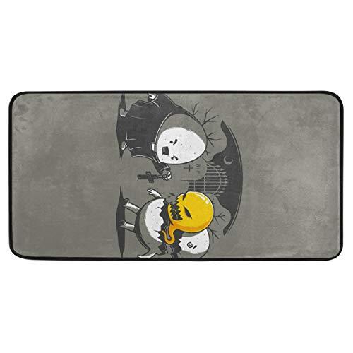 Vipsa Teppich, rechteckig, Polyester, rutschfest, 99 x 51 cm, Halloween-Ei
