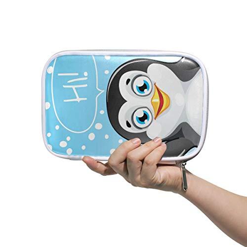 CPYang Federmäppchen mit lustigem Tier-Pinguin-Reißverschluss, Bleistiftbeutel, Kosmetik, Make-up, Pinsel, Schreibwaren, Stiftebox, Reisepass, Organizer