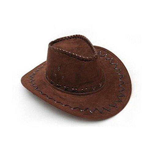 Delmkin Cowboyhut Westernhut Kostümzubehör Unisex Cowboy-Hut (dunkelbraun)