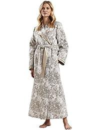 Feraud 3181228-11731 Women s Couture Shine Gold Floral Dressing Gown  Loungewear Bath Robe Robe d73e39f51