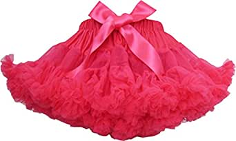 BS31 Girls Skirt Dress Multi-layers Tutu Dance Pageant Bow Kids Clothes Size 2-3