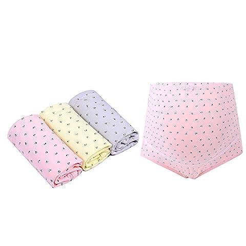 FZmix 3Pcs/Lot Plus Size Maternity Panties Adjustable High Waist Panties Maternity Underwear Panties Pregnant Women'S Clothes Maternity Pants
