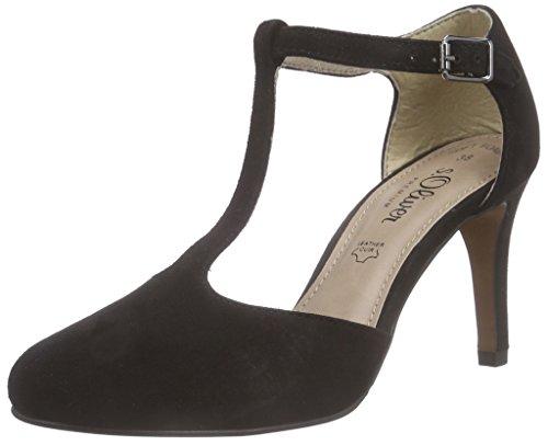 s.Oliver 24401, Chaussures à talons avec bride style salomés femme Noir - Noir
