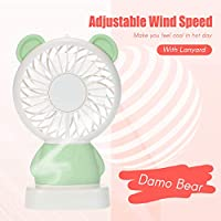 Tickas Personal Handheld Portable Fan, Small Fan with Color LED Light for House Travel Camping