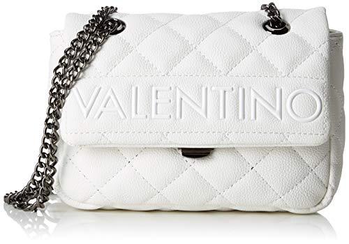 Mario Valentino Valentino by Damen Licia Tornistertasche, Weiß (Bianco), 7x13.5x18.5 cm