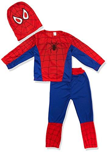 Fun Play Kinder Verkleidung Super Hero Spider Kostüm 1-3 Jahre (98 (Baby Kostüm Baby Spider)