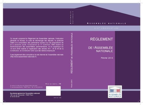 Livre gratuits Le Règlement de l'Assemblée nationale et la Constitution de 1958 pdf, epub