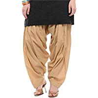 PI World Women's Cotton Patiala Salwar Free Size Cotton Solid Patiala Cotton Comfort Punjabi Patiala Salwar Multicolor
