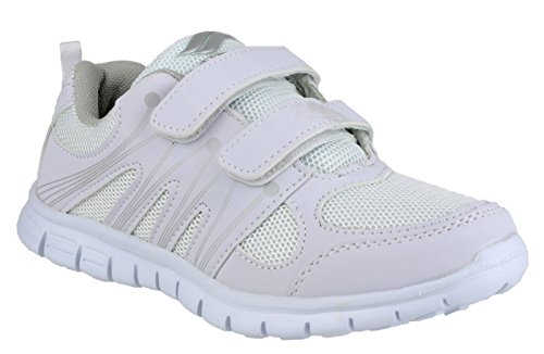 Mirak Ladies Milos Velcro Lightweight Sports Trainers White (Schuh Casual Velcro Braun)