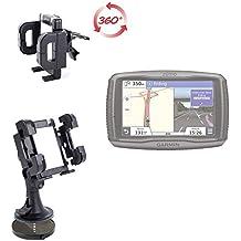 DURAGADGET Soporte De Alta Calidad Para Coche Con Abrazadera Para Navegador GPS Garmin Zümo 590 LM