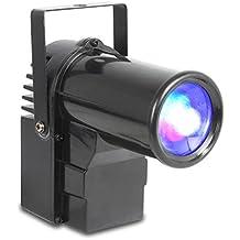 beamZ PS10W Foco spot para eventos • 10W de potencia • 4 en 1 funciones • LEDs • Función Master Slave • Bajo consumo • Para bolas de espejo, escenografías o iluminar • Shows programados • RGBW • Modo DMX