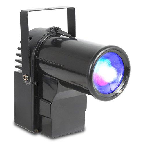 beamZ PS10W Spot-Scheinwerfer Bühnenbeleuchtung Punktstrahler (10 Watt, 4-in1- LEDs, RGBW, 7-Kanal-DMX, Musiksteuerung, Master/Slave Funktion, Stand-Alone-Modus, Metallgehäuse) schwarz (Nebel Laser)