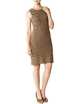 CINQUE Damen Kleid Cianna Leinenmix Dress Unifarben, Größe: 36, Farbe: Braun
