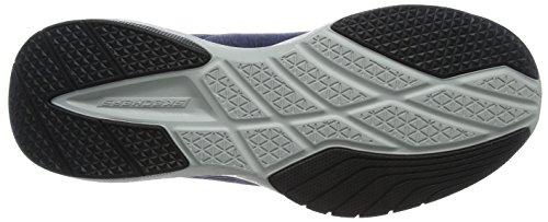 Skechers Burst TR-Locust, Chaussures de Running Homme Bleu (Navy/grey)