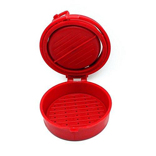 Snatchcz Hamburguesa Rellena Prensa Hamburguesa Parrilla BBQ Maker Jugoso (Color: Rojo)