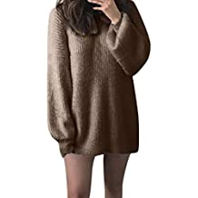 65c5b75c20e DAY8 Pull Femme Hiver Chaud Long Manteau Femme Grande Taille Automne  Chandail Mohair Robe Pull Femme