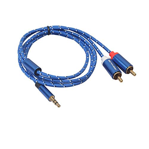 Futurepast Câble Jack Audio Cable Auxiliaire 3.5mm en Nylon Tressé Long Câble Audio stéréo mâle vers mâle pour Casque,HiFi,Tablette,MP3,iPhone,iPod,ipad, Autoradios,Portables,Smartphones