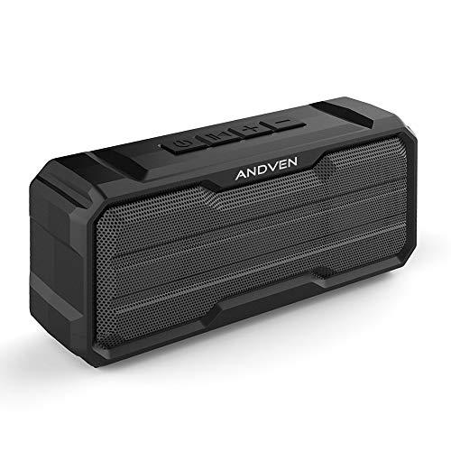 Altavoz Bluetooth Portátil, Andven 20W 360° Inalámbrico Sonido Estéreo con Doble Driver,...