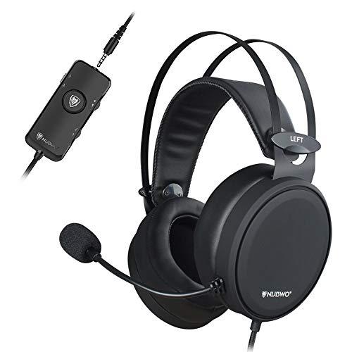 NUBWO PS4 Xbox One Headset 7.1 Surround Sound PC USB Gaming Headset mit Rauschunterdrückung Mic, Over Ear Kopfhörer mit Game & Chat Lautstärkeregler für PC/Playstation 4 / Xbox 1