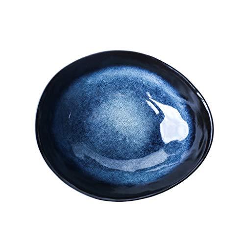 Bol - Européen 6 pouces créatif bol en céramique irrégulière maison en forme de bol bleu tableware