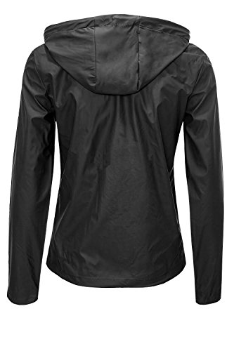 Jacqueline de Yong ONLY Damen Übergangsjacke Regenjacke Windbreaker SHORT RAINCOAT Black