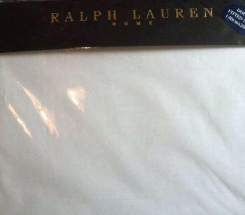 Ralph Lauren matrimoniale lenzuolo con angoli. Bianco RRP £ 65.00